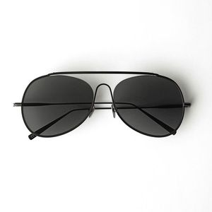 Acne Studios Large Black Spitfire Aviators